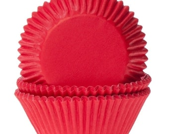 Red baking cups 91 60 mm