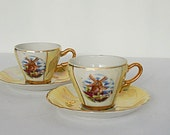 Gold Demitasse Cups and S...