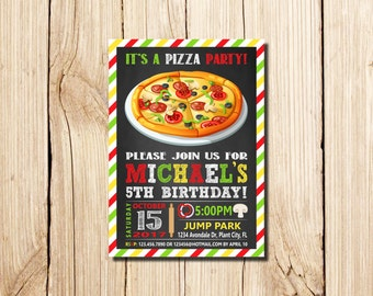 Pizza Party Invitation, Pizza Invitation, School Pizza Party, boy pizza birthday, Pizza Making Birthday, Pizza Party Invite, Pizza Birthday