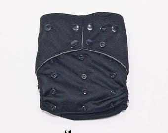 Cloth Diapers, Cloth Diaper Pattern, One Size, All in one, Modern, Bamboo, Nappies, Baby Diaper, Baby Diaper Cover, Black