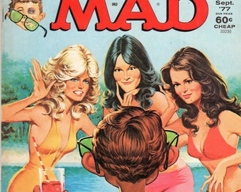 MAD Magazine #193 Charlie's Angels TV Show Parody September 1977 Issue