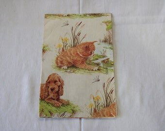 Vintage | Cat and Dog | Wrapping Paper