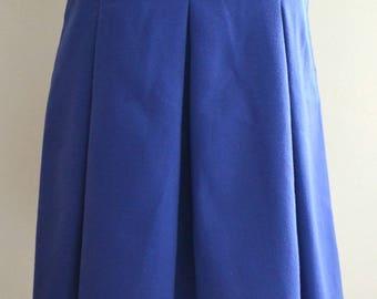 Vintage 70s St Michael Purple A line box pleat skirt Small