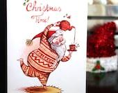 SALE! Santa in a Onesie Christmas Card