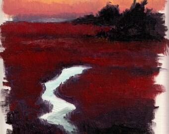 Marshland Sunset 01 - Landscape Study