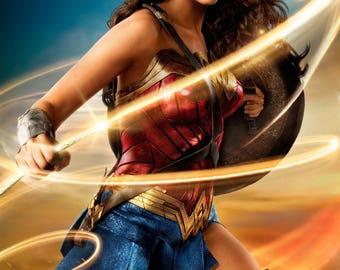 Wonder Woman Gal Gadot 2017 NEW movie poster DC Comics