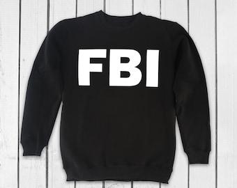 FBI Sweatshirt Police Sweatshirt Printed Sweatshirt Cool Sweatshirt for Mens Women Sweater Police Sweater Cool Pullover Printed PA3014