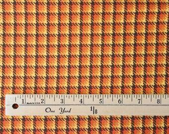 Phenomenal Fall by Sandy Gervais for Mod Fabrics - Orange Brown Plaid - 3/4 Yard Piece