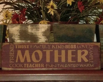 Mother sign, mother's day gift, family sign, wood sign, Mother's gift