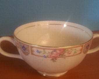 Vintage Double Handle Tea Cup