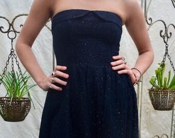 1950s Black Prom Dress
