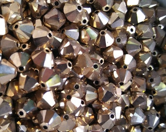 6mm Crystal Aurum Gold Swarovski Bicone Cuts 12/36/72/144/288 Pieces (234)