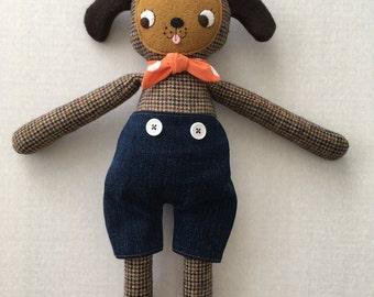 """PumpernickelPlum Puppy Dog Doll """"Baxter"""" - Boy"""