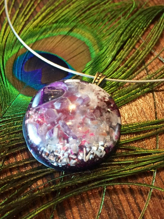 Astral Travel Spirit Guide Earth Energy Orgone Generator Pendant- Empath Protection Amethyst Healing Orgonite®- Himalayan Salt Orgone
