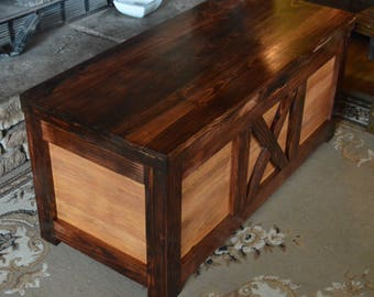 Large Hope Chest With Tray Coffee Table End Of The Bed