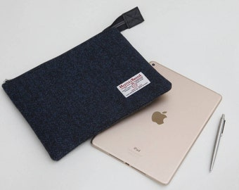 Harris Tweed iPad case - iPad sleeeve - iPad cover - tablet case - Father's Day gift - gift for him - wool Anniversary gift