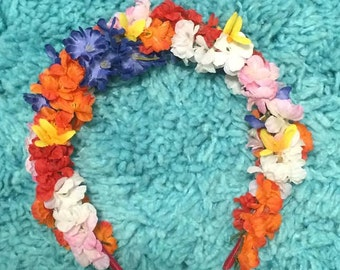 Multicolored Flower Headband