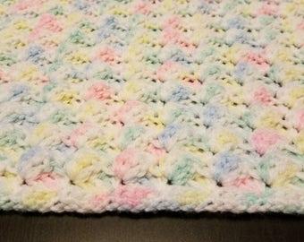 Baby Blanket/Crochet Baby Blanket/Neutral Gender Baby Blanket/Crib Blanket/Receiving Blanket/Stroller Blanket