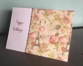 Birthday card - brown