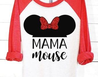 Mama Mouse | Disney Shirts | Disney Family Shirts | Minnie Mouse Shirt | Minnie Mouse | Disney Clothing | Mama Shirt | Mama Mouse Shirt