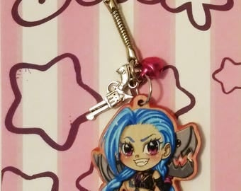 Jinx from League of Legend keychain