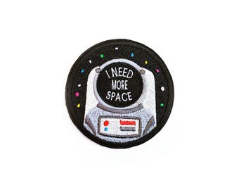 Astronaut Patch Iron On Patches Applique Embroidered Patches • I Need More Space Art Cosmo Stars