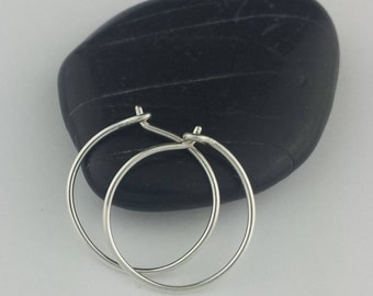 Small Silver Hoop Earrings, Sterling Silver Hoop Earrings, Argentium Sterling Silver, Hoop Earrings, Hammered Earrings, Round Hoops