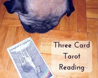 Three Card Tarot Intuitive Psychic Reading