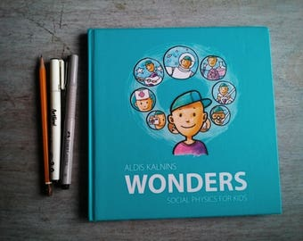 WONDERS Social Physics Kids Education Book for Creative Thinking by Principles of Montessori School