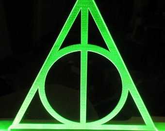 Deathly hallows inspired Harry Potter sheet lamp