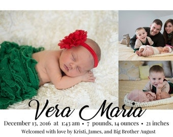 Baby Announcement Printable