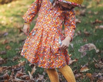 Spring clothes for girls - girls spring outfit - toddler spring dress - girls spring dress - girls vintage style dress - girls clothing