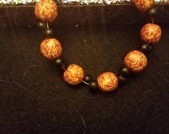 Wooden-like Beaded Twist Bracelet