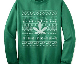 Weed sweater | Etsy