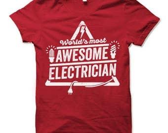 Electrician Shirt. Electrician Gifts.