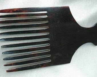 Vintage 1960's Faux Tortoise Shell Afro Comb  Interior Design BoutiqueByDanielle