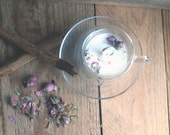 Glass candle Cup, double-...