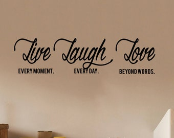 Live Laugh Love Quotes | Family Wall Decal | Family Decor | Family Wall Decal | Quote Decal | Quote Wall Decal | Wall Quotes