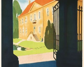Vintage Denmark The Country of Peace Tourism Poster A3 Print