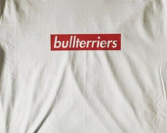 Bullterrier block design RED