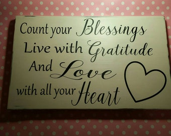 Count Your Blessings. . .