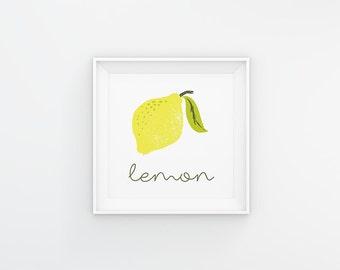 Lemon Print Lemon Kitchen Art You Are My Main By Eatsaylove photo - 3