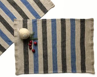 Set of Linen Placemats, Linen Placemats, Burlap Placemats, Rustic Placemats, Washable Placemats, Rectangle Placemats, Country Decor