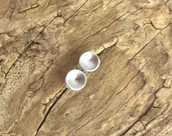 Sterling Silver disc studs, small