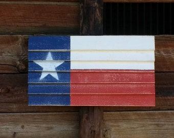 "Small Rustic Texas Flag - 24"" x 13"""