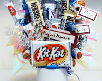 White Whisper - White Chocolate Candy Bouquet