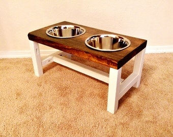 Dog Bowl Stand - Large Dog Bowl Stand - Farmhouse Style - Rustic Dog Bowl Stand - Raised Dog Bowl - Elevated Dog Bowl - Raised Dog Feeder