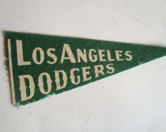 Vintage Los Angeles Dodgers Miniature Felt Pennant