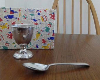 Vintage Egg Cup and Spoon Set in Original Box