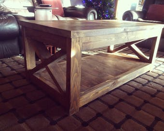 Coffee Table // Living Room // Side Table // Knotty Alder